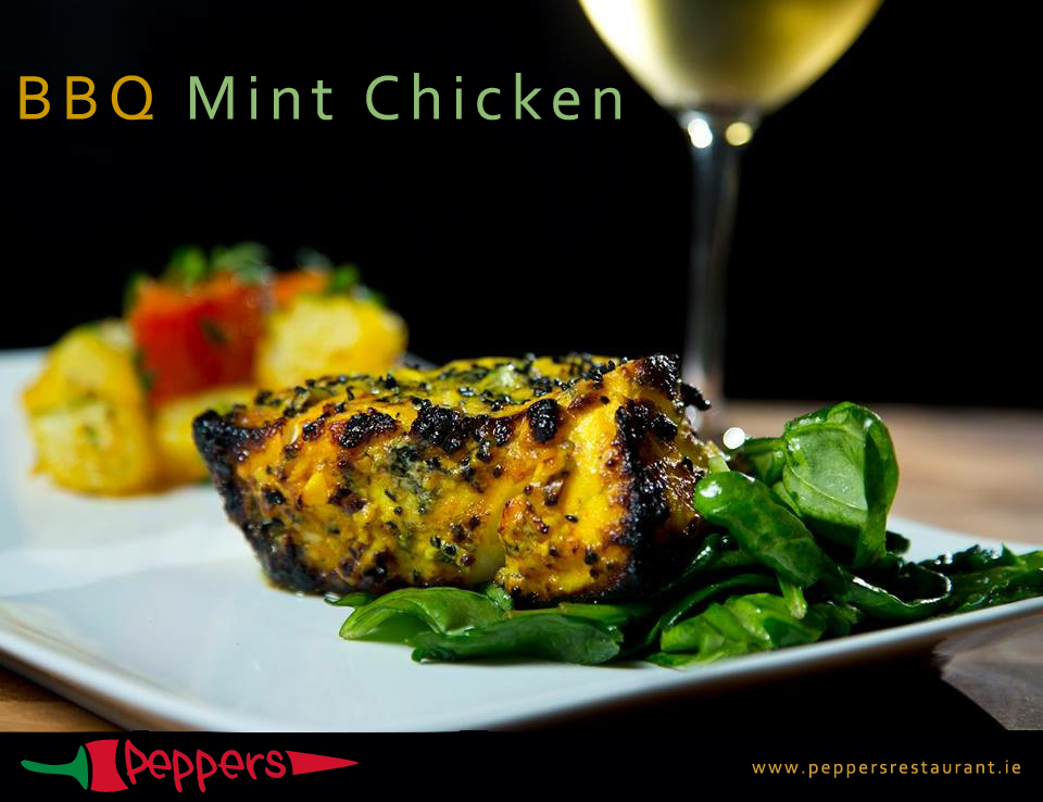Peppers Restaurant-BBQ Mint Chicken at Peppers Restaurant