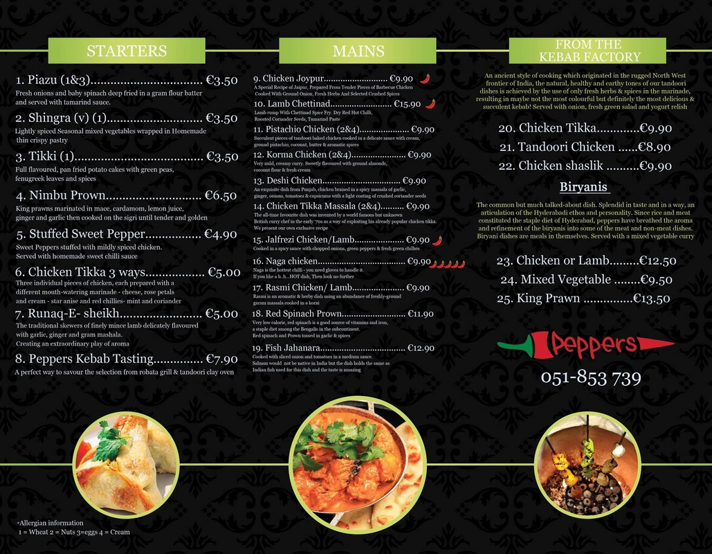 Peppers Indian Restaurant Waterford City